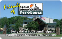 Friends of Stone Mountain Pet Lodge Card