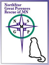 NorthStar Great Pyrenees Rescue of MN Logo
